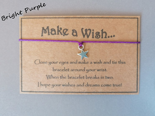 Bright Purple Make a Wish Bracelet