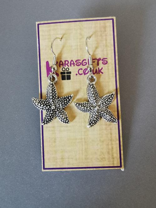 Bespoke Handmade Star Fish Dangle Earrings