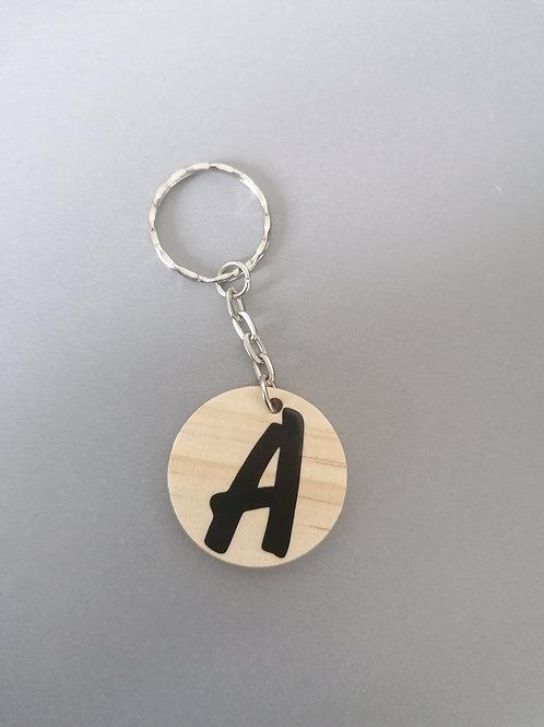Wooden Letter Keyring