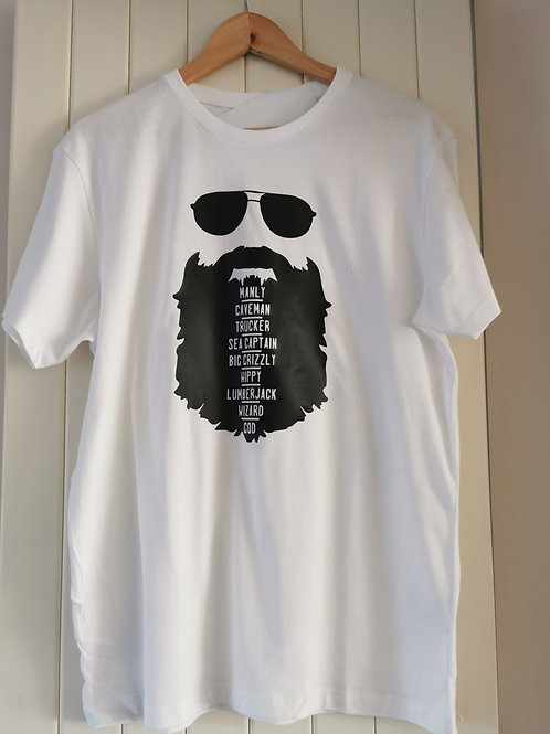 Mens Beard Tshirt