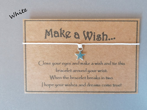 White Make a Wish Bracelet