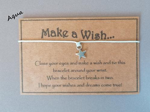 Aqua Make a Wish Bracelet