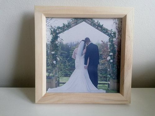 Personalized Glass Printed Box Photo frame with Lights