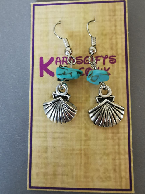 Bespoke Handmade Dangle Shell Earrings