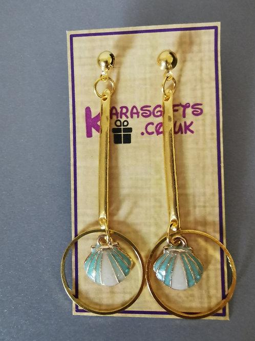 Bespoke Handmade Shell Studded Earrings