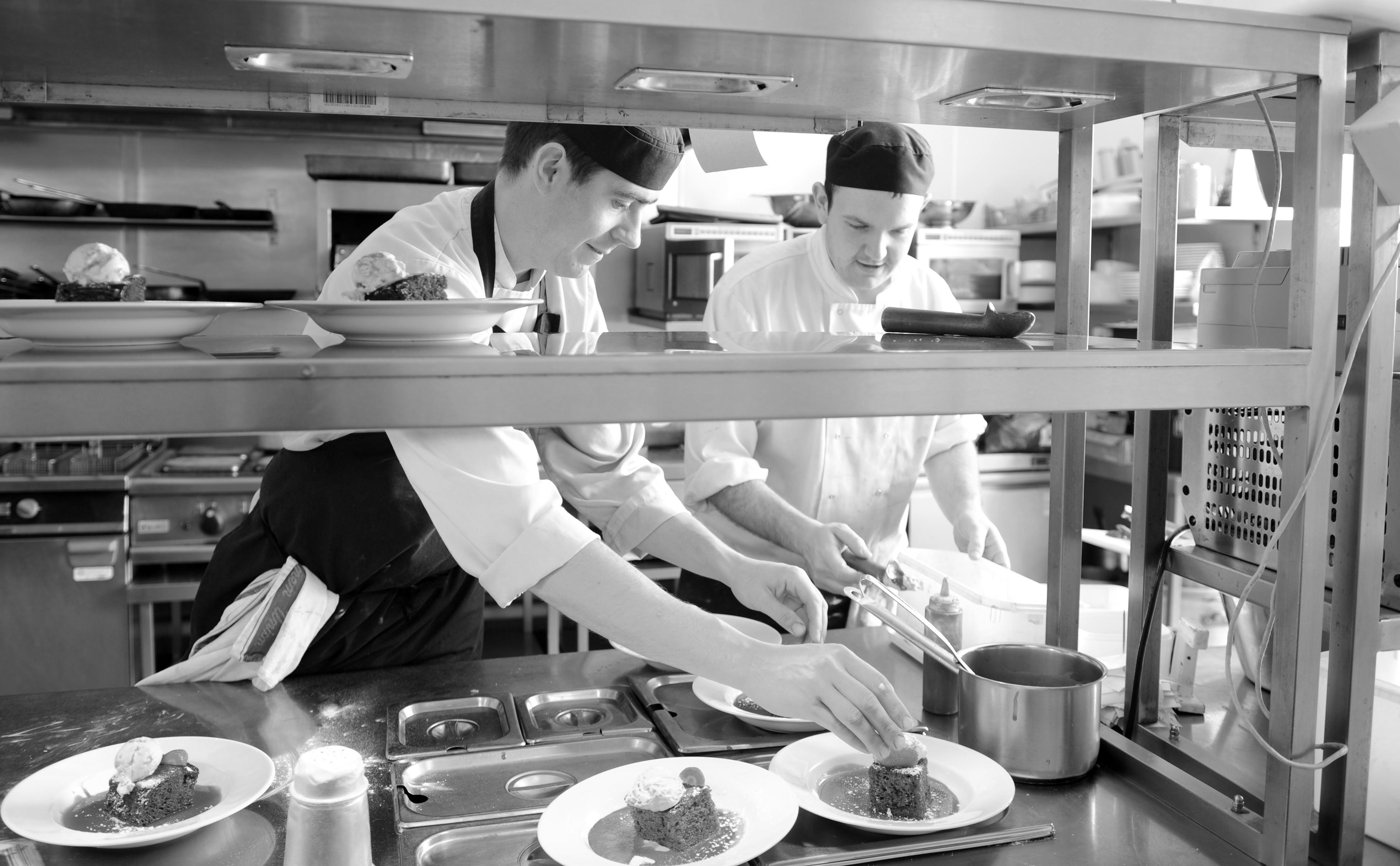 Chef's in action @ Haddon Restaurant