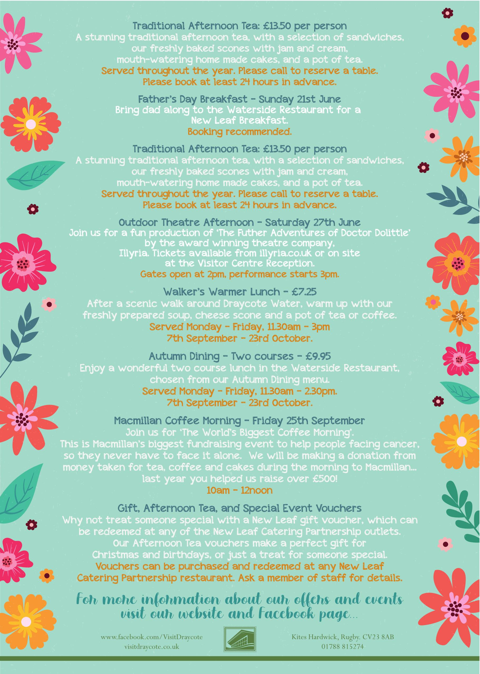 What's On at Draycote Water - 2020 (2)