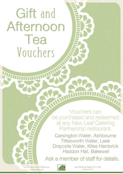 Gift and Afternoon Tea Vouchers