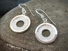 Garden Stone Earrings solid Sterling Silver