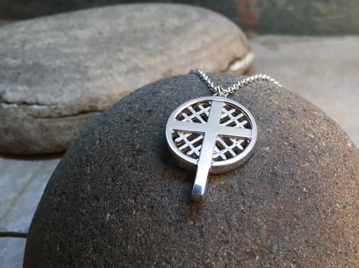 Eternal Lattice Cross solid Sterling Silver
