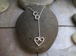Eternal Love Necklace v2 solid Sterling Silver
