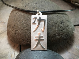 Kung Fu Pendant solid Sterling Silver