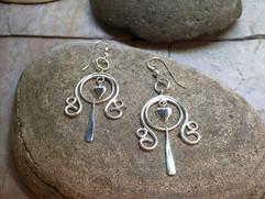 Heart Earrings solid Sterling Silver