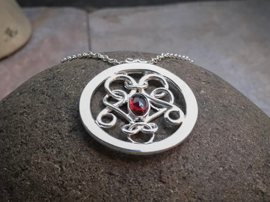 Fancy Pendant with Gemtone solid Sterling Silver