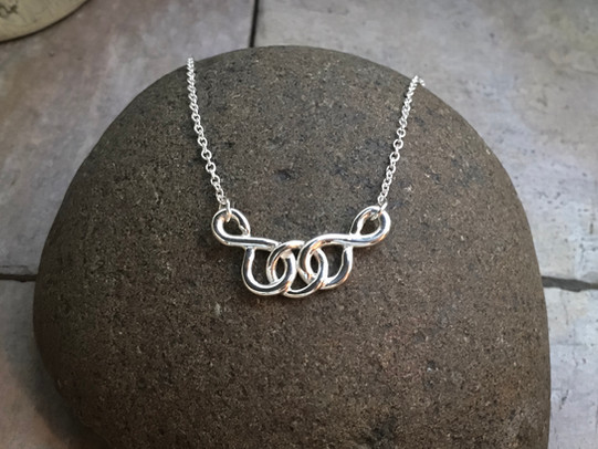 Love Knot Necklace solid Stering Silver