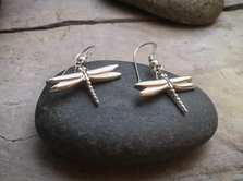 Dragonfly Earrings solid Sterling Silver