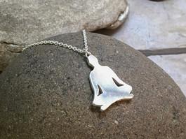 Meditation Pendant solid Sterling Silver