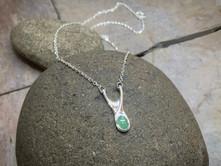 Gem Drop Gemstone Necklace solid Sterling Silver