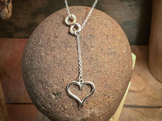 Eternal Love Necklace v1 solid Sterling Silver