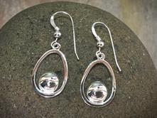 EGG Earrings solid Sterling Silver