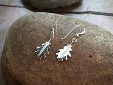 Oak Leaf Earrings solid Sterling Silver