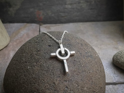 Power Cross Pendant solid Sterling Silver