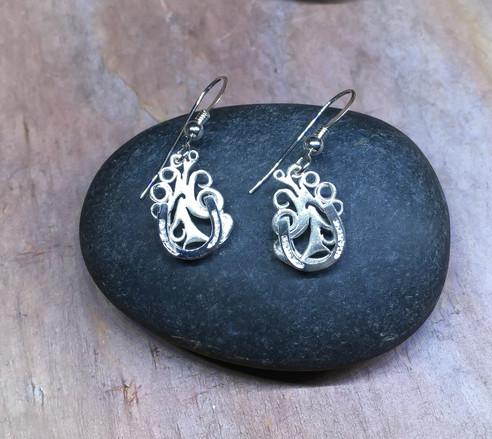 Horseshoe Earrings solid Sterling Silver