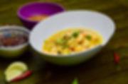 curry indien de crevettes au lait de coc
