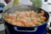 le risotto aux asperges et crevettes