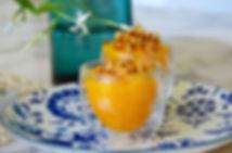 crème de mangue à la vanille d'Isabelle