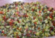 confiture de courgettes - poivron rouge