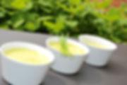 soupe de courgette glacée au gingembre