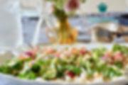 salade de quinoa, amandes, feta et grenade