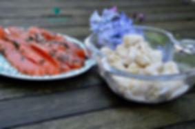 les gnocchis à l sauce raifort