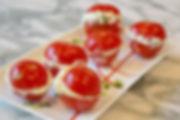petites tomates au chèvre frais