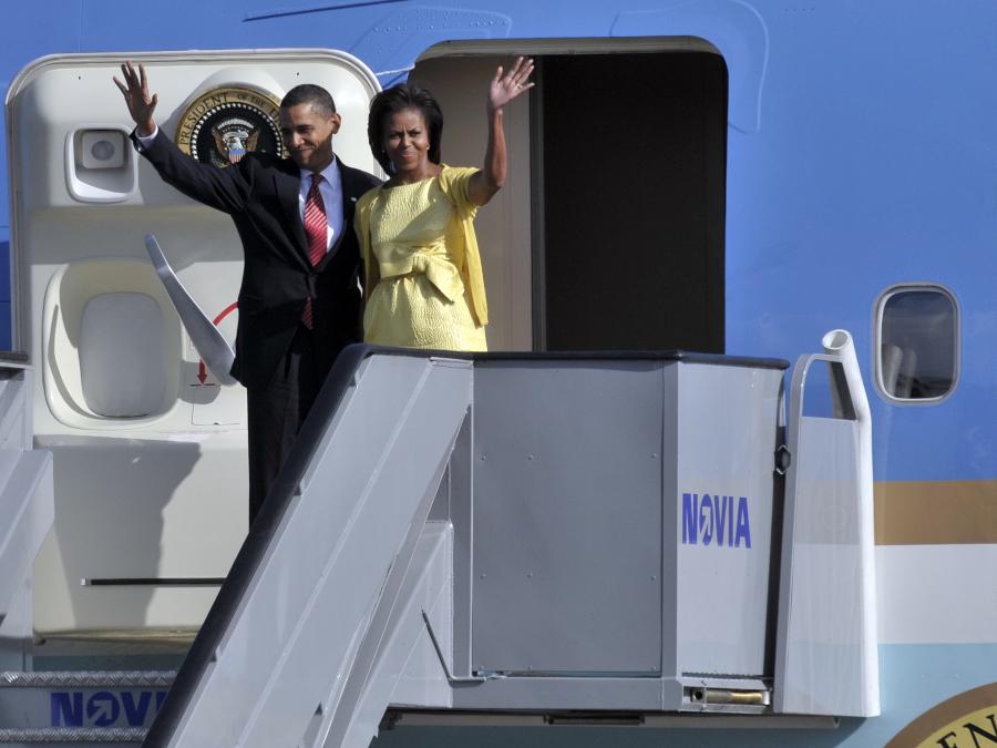 Præsident Barack Obama og Michelle