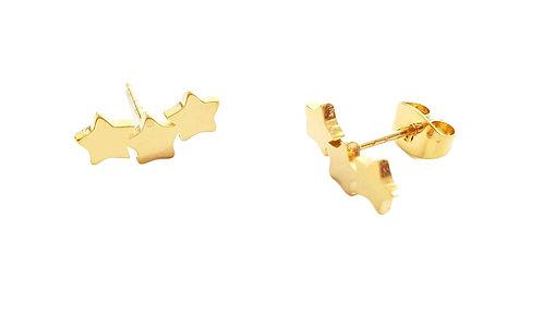עגילים צמודים כוכבים היפו-אלרגניים