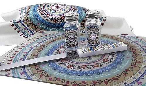 סט לשולחן שבת - מנדלה צבעונית