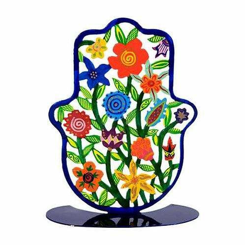 סטנד חמסה גדולה - חיתוך לייזר  - פרחים