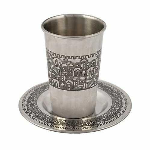 כוס קידוש נירוסטה - ירושלים