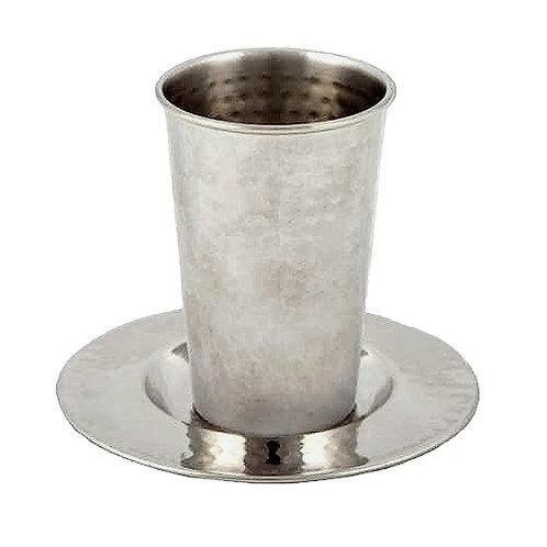 כוס קידוש נירוסטה בעבודת פטיש