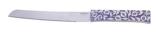 סכין חלה - רימונים אפור