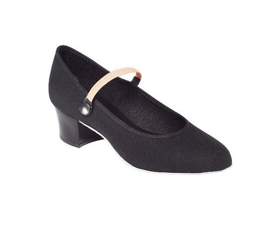 Cuban Heel Character Shoe- Canvas