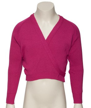 Long sleeved wrap around crossover cardigans