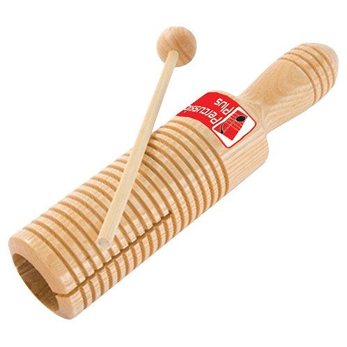 Wooden guiro tone block