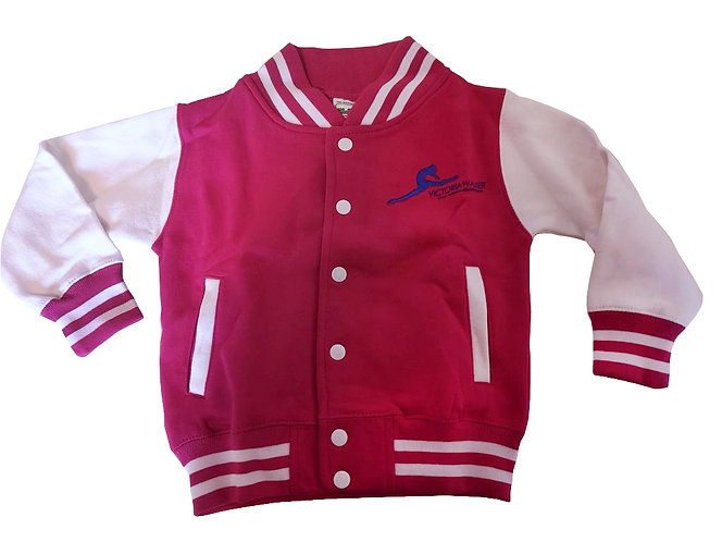 Pink and White Victoria Walker Dance Varsity Jackets