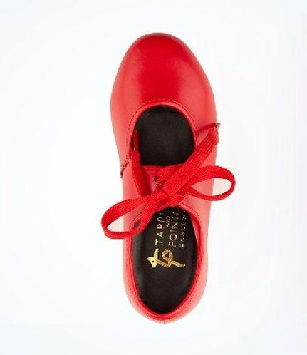 Red Low Heel Tap Shoe - PU Upper