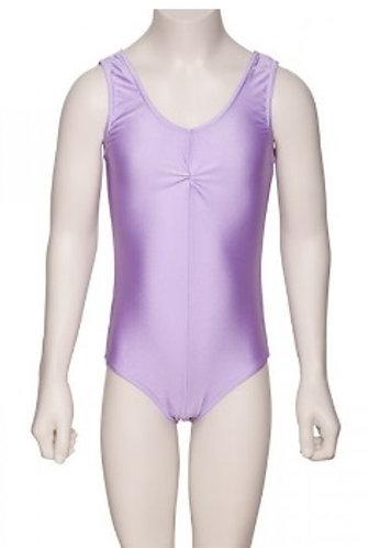 Girls sleeveless ruched dance leotard