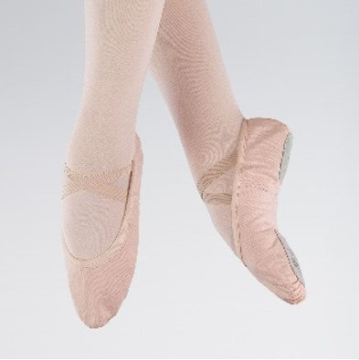 Pink Canvas Split Sole Ballet Shoes