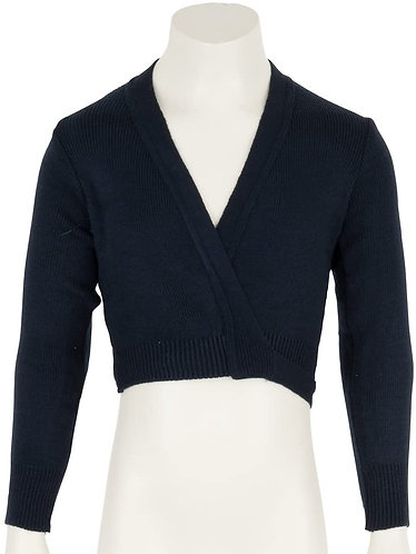 Long sleeved navy wrap around crossover cardigans